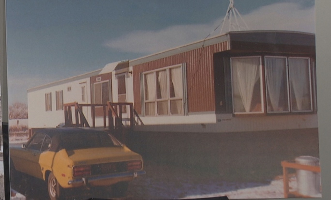 B.C. Housing Minister Rich Coleman shared an image of the first home he owned: a mobile home in Brooks, Alberta bought in 1974. The next year he bought a lot and built a house. (CBC)