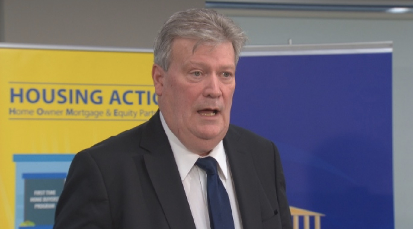 B.C. Housing Minister Rich Coleman answered questions about the new government loan program on Monday. (CBC)